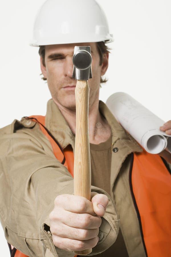 Portret van een bouwvakker stock fotografie
