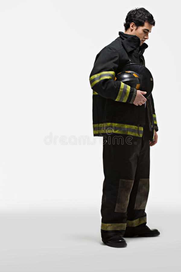 Portret van een brandbestrijder royalty-vrije stock foto's
