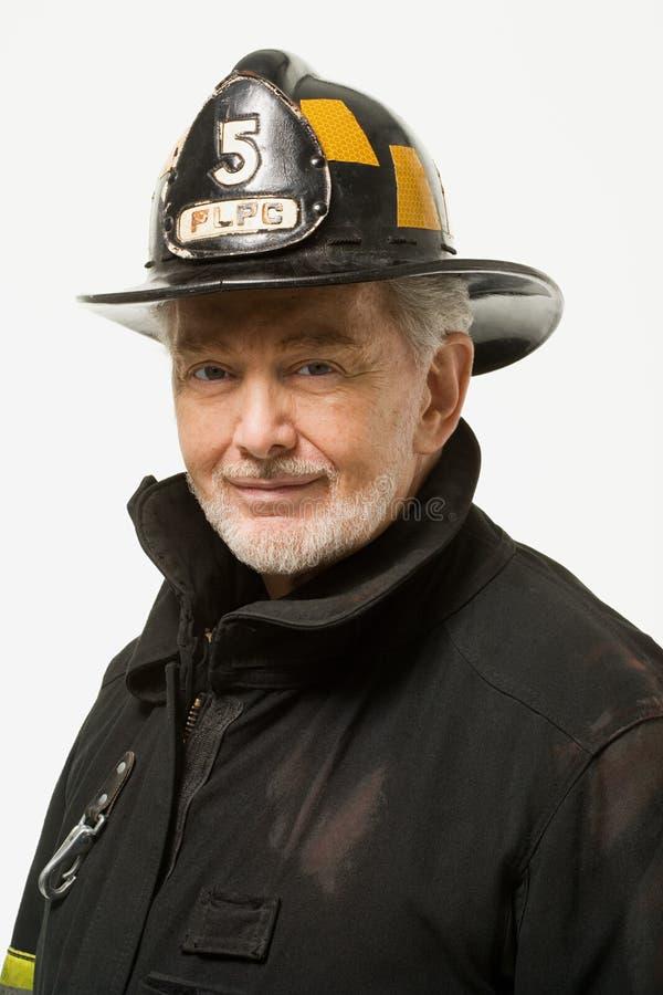 Portret van een brandbestrijder stock afbeeldingen