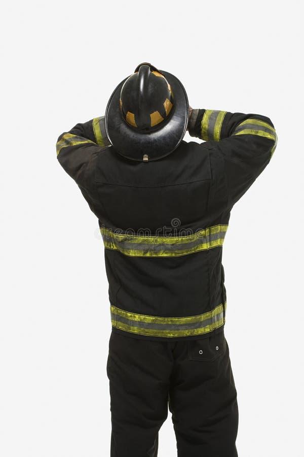 Portret van een brandbestrijder stock fotografie
