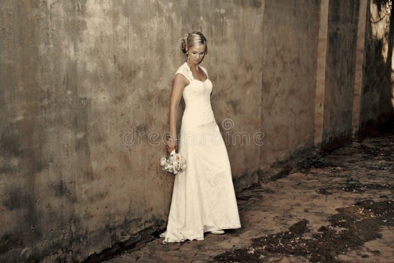 Portret van een bruid stock afbeelding