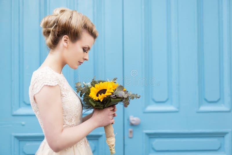Portret van een bruid stock foto's