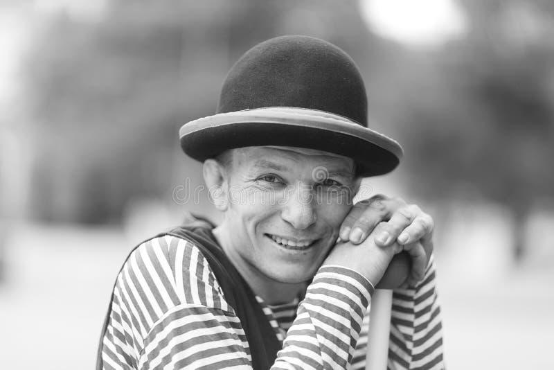 Portret van een clownmens stock foto