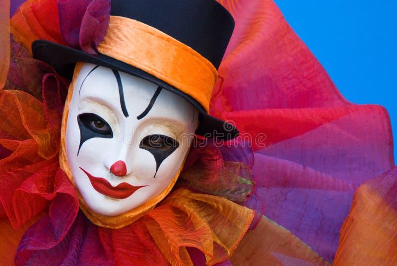 Portret van een droevige clown royalty-vrije stock foto