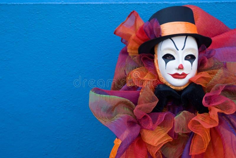 Portret van een droevige clown stock foto's
