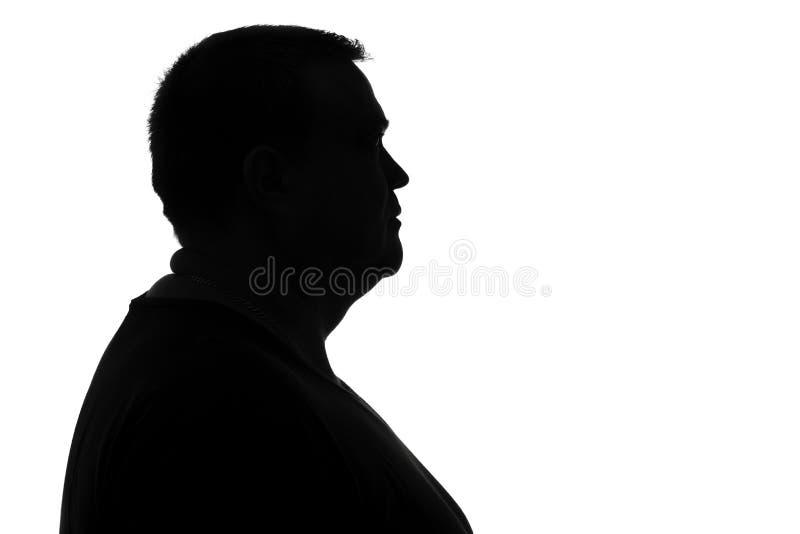 Portret van een droevige mens in depressie stock afbeelding
