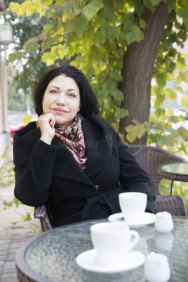 Portret van een droevige vrouw stock foto
