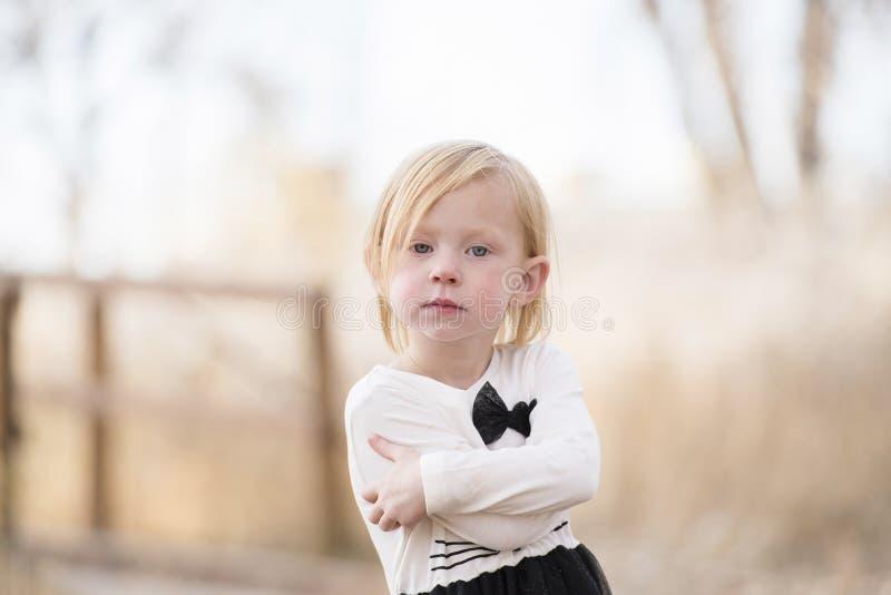 Portret van een Expressief Mooi Meisje stock foto's