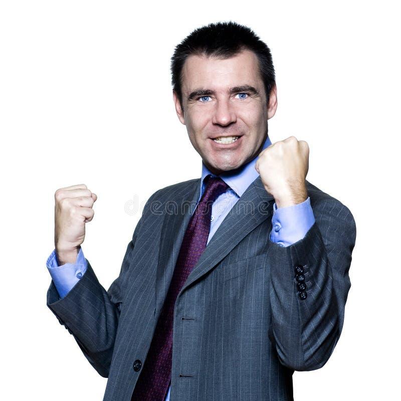 Portret van een expressieve knappe gelukkige mens stock afbeelding