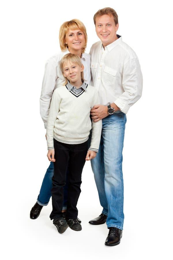 Portret van een gelukkige familie van drie royalty-vrije stock afbeeldingen