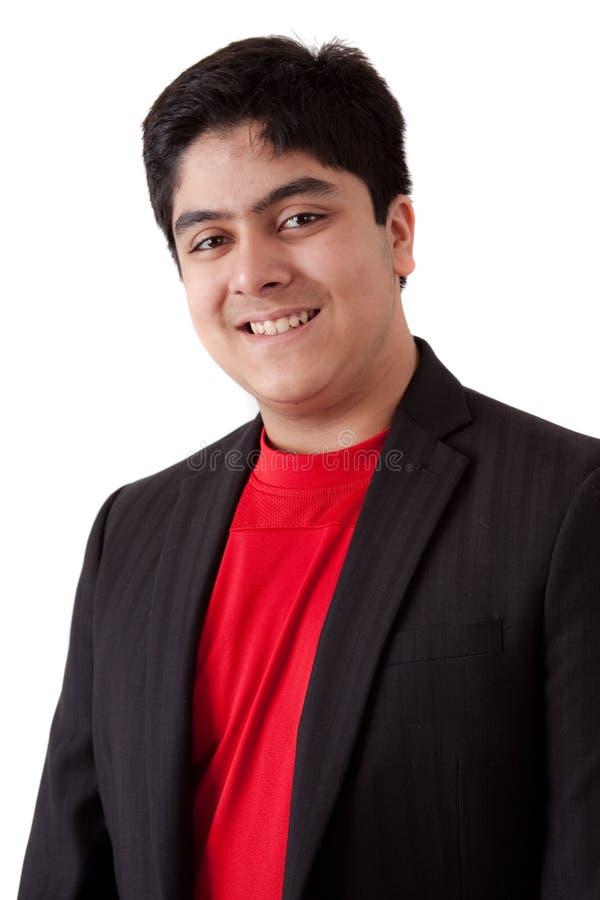 Portret van een gelukkige Indische tiener van het oosten stock afbeelding