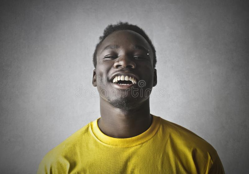 Portret van een gelukkige mens royalty-vrije stock foto