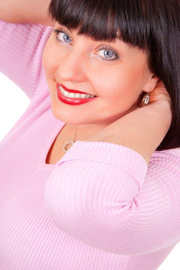 Portret van een gelukkige rijpe vrouw royalty-vrije stock fotografie