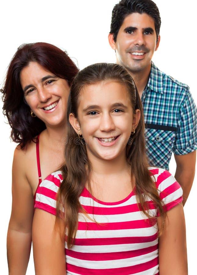 Portret van een gelukkige Spaanse familie royalty-vrije stock foto's