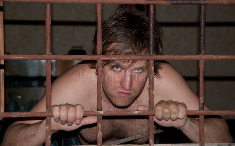 Portret van een gevangene stock fotografie