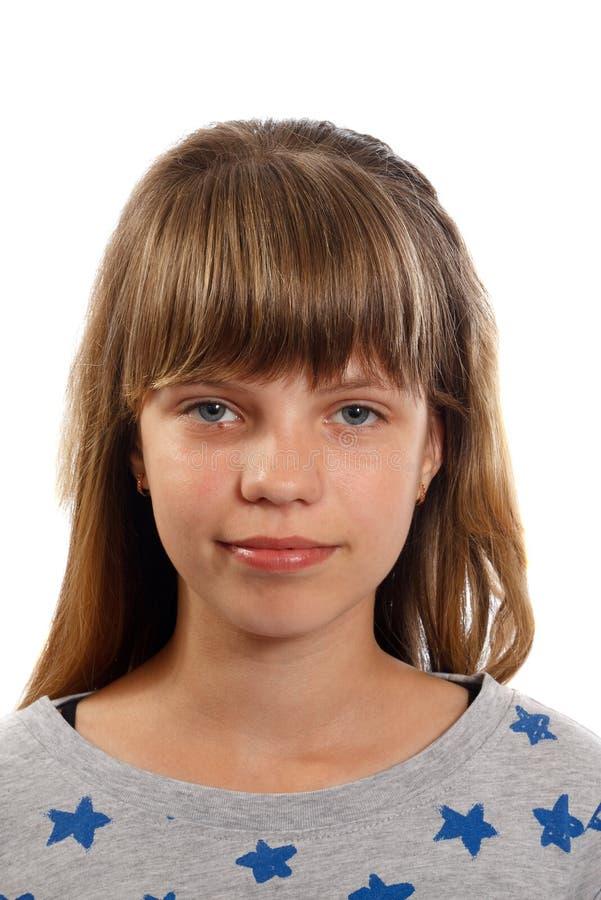 Portret van een glimlachend tienermeisje stock fotografie