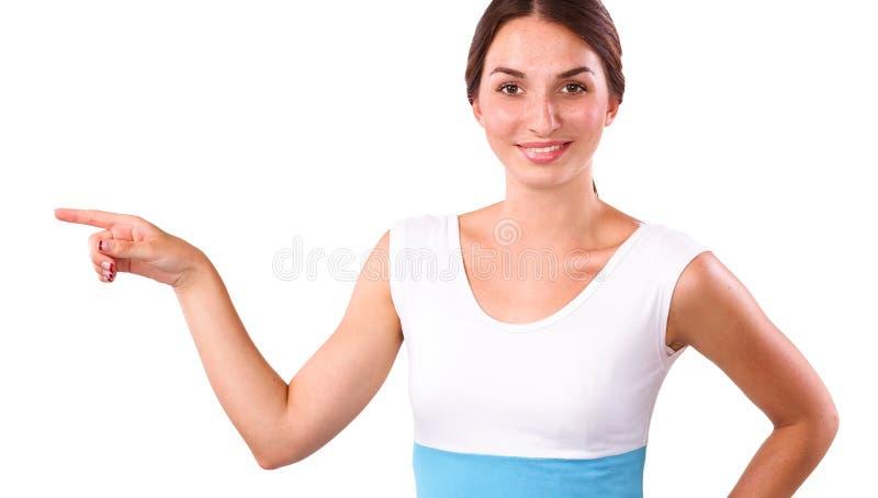 Download Portret Van Een Glimlachende Jonge Vrouw Die Benadrukken Stock Foto - Afbeelding bestaande uit lang, gezicht: 107704600
