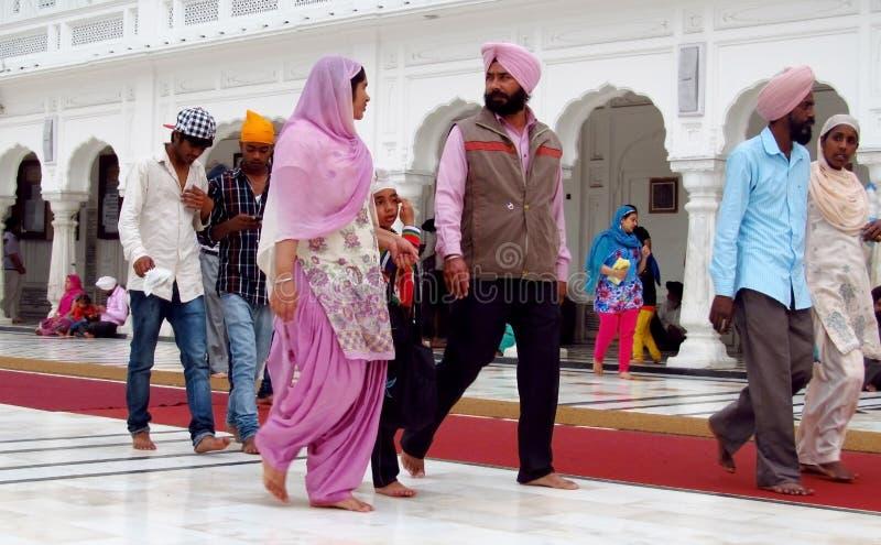 Portret van een groep Sikhs in India in nationale kleding stock afbeeldingen