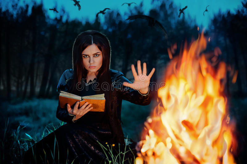 Portret van een heks royalty-vrije stock afbeelding