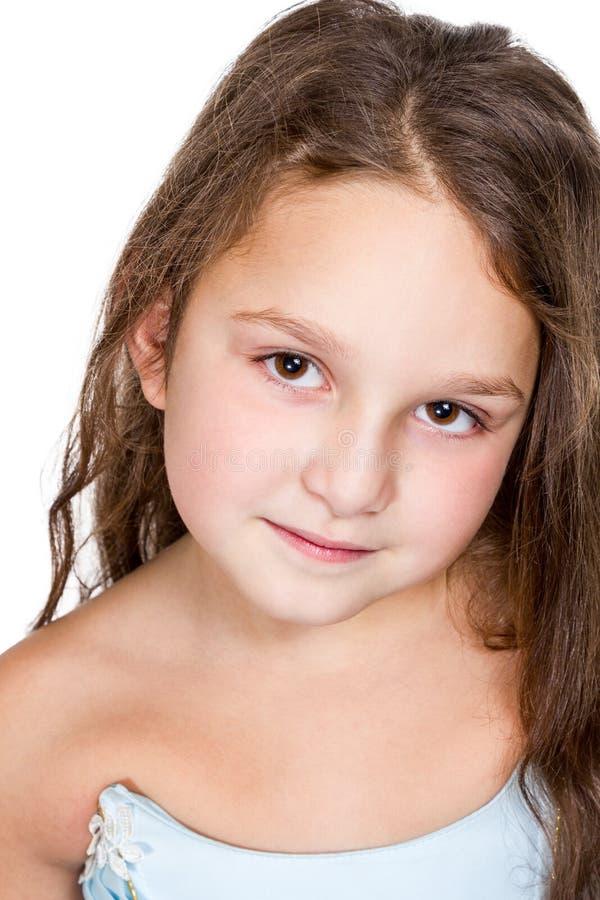 Portret van een het glimlachen meisjeclose-up royalty-vrije stock afbeeldingen