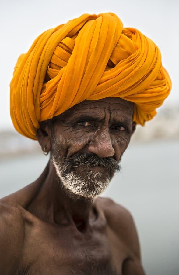Portret van een Indische mens stock foto