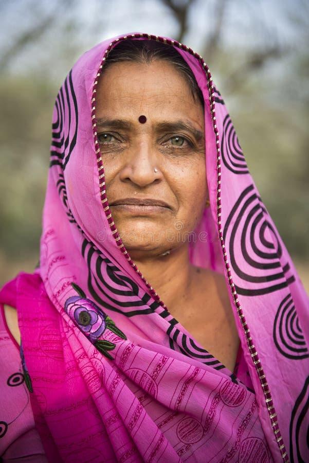Portret van een Indische Vrouw stock foto