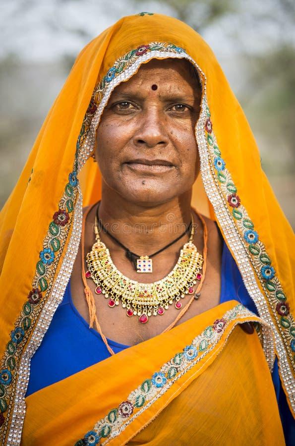 Portret van een Indische Vrouw royalty-vrije stock fotografie