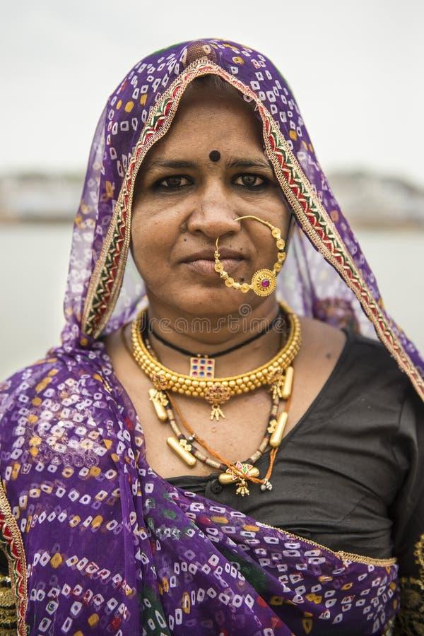 Portret van een Indische Vrouw royalty-vrije stock foto's