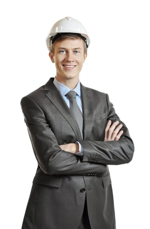 Portret van een ingenieur stock afbeelding