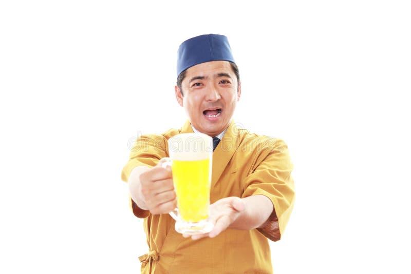 Portret van een Japanse chef-kok royalty-vrije stock fotografie