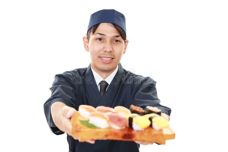 Portret van een Japanse chef-kok royalty-vrije stock foto
