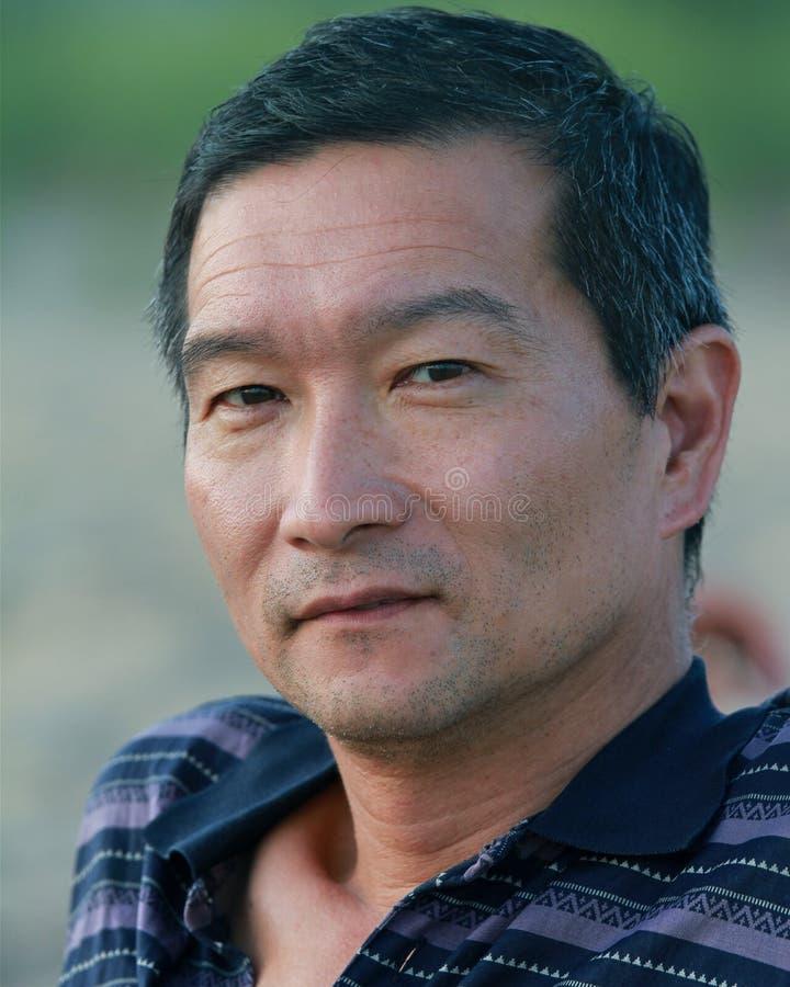 Portret van een Japanse mens royalty-vrije stock afbeeldingen