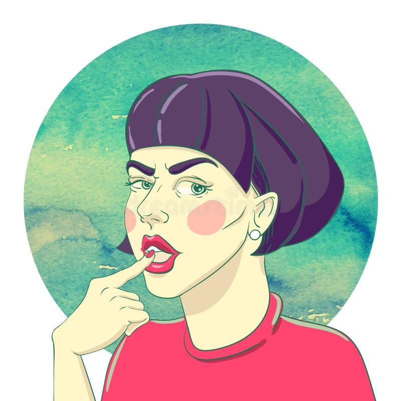 Portret van een Jong Meisje vector illustratie