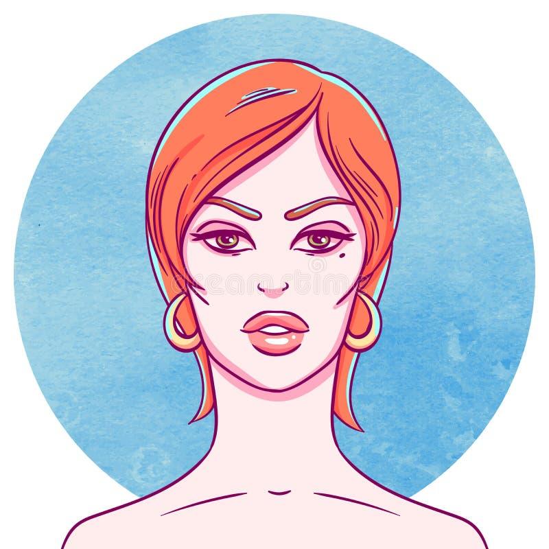 Portret van een Jong Meisje stock illustratie