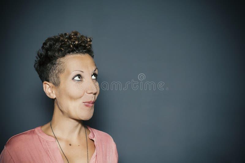 Portret van een jong meisje, lege ruimte royalty-vrije stock foto