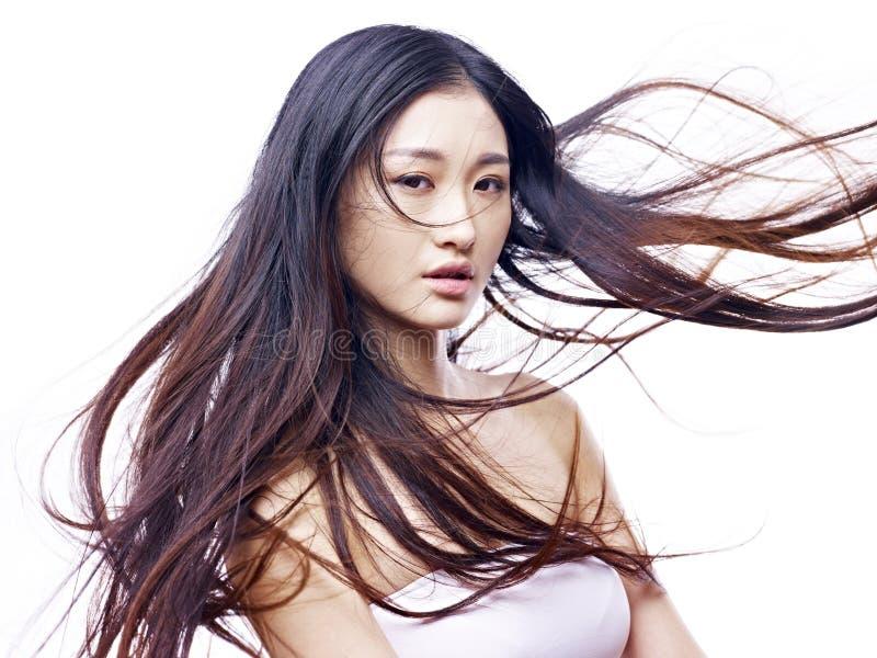 Portret van een jong vrouwelijk Aziatisch model stock fotografie