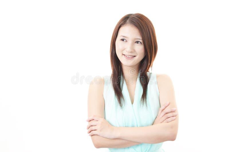 Portret van een jonge Aziatische vrouw royalty-vrije stock afbeeldingen