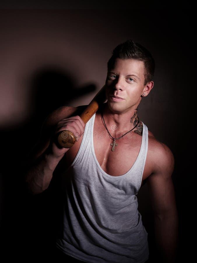 Portret van een jonge bodybuilder stock foto