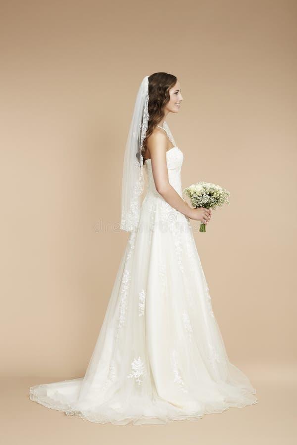 Portret van een jonge bruid stock foto