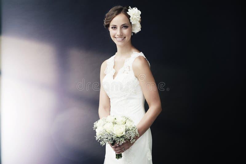Portret van een jonge bruid royalty-vrije stock afbeeldingen