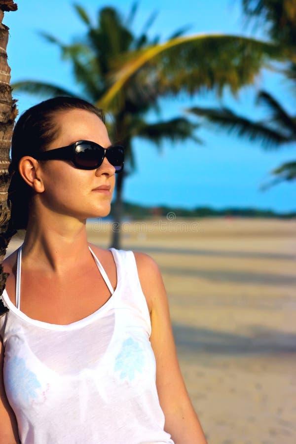 Portret van een jonge brunette stock foto