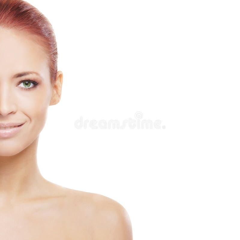 Portret van een jonge redhead naakte vrouw royalty-vrije stock fotografie