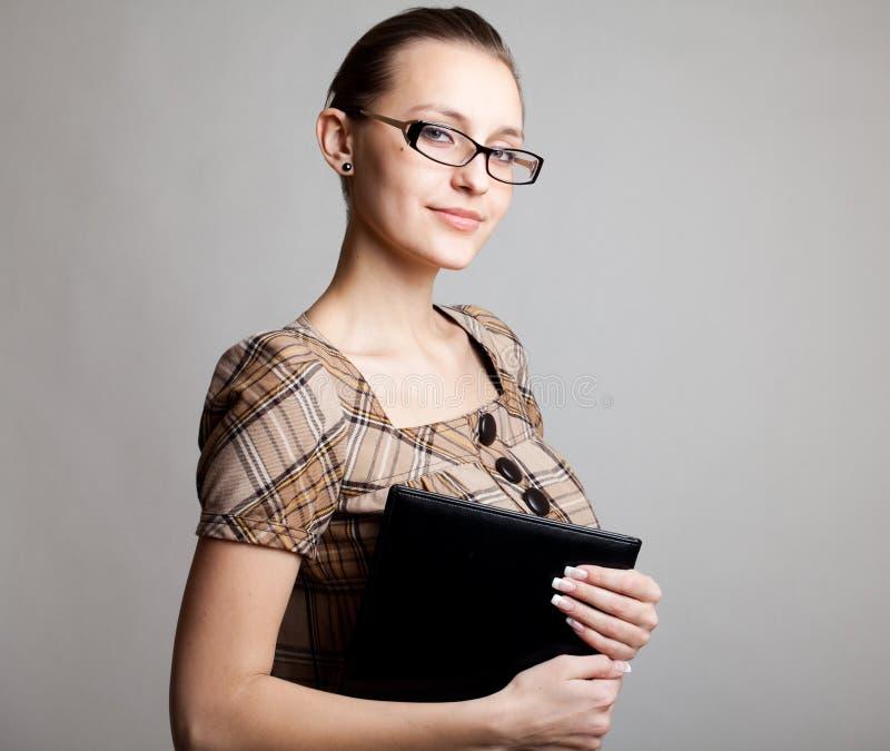 Portret van een jonge vrouw, student royalty-vrije stock afbeeldingen
