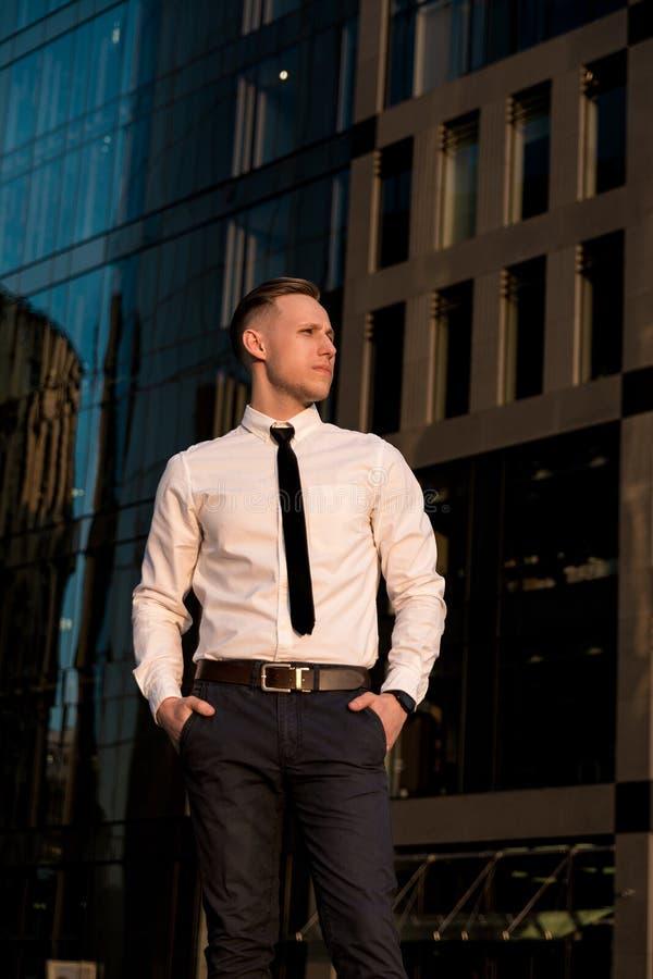 Portret van een jonge zakenman stock fotografie