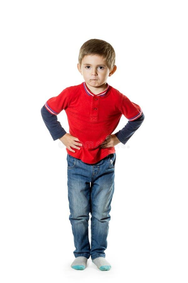 Portret van een jongen in de volledige groei stock foto