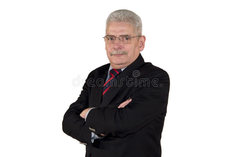 Portret van een Kaukasische hogere manager stock afbeelding