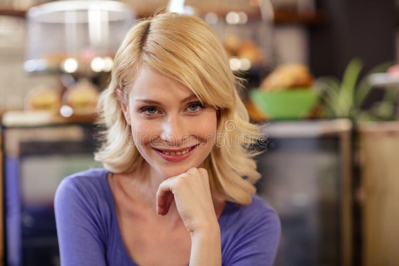 Portret van een klant stock afbeelding