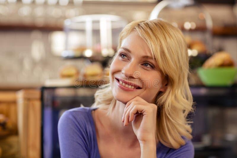 Portret van een klant stock fotografie