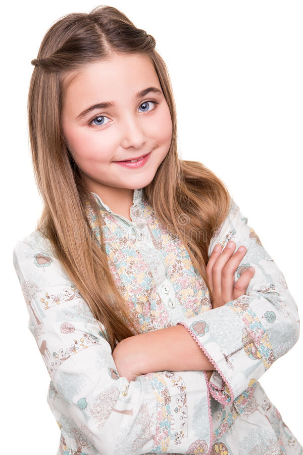Portret van een klein meisje royalty-vrije stock foto