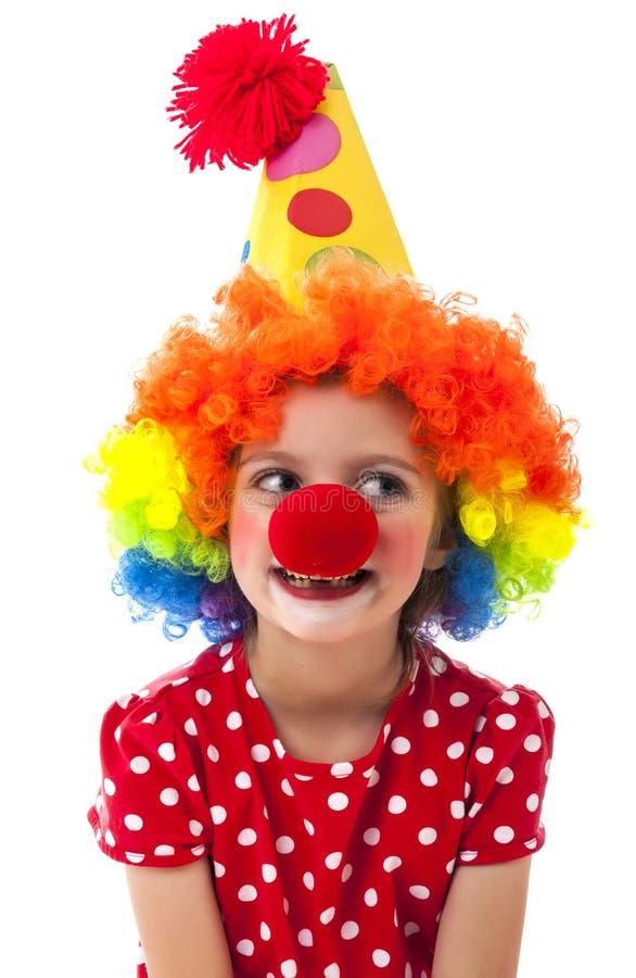 Portret van een kleine clown royalty-vrije stock foto